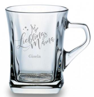 Kaffeeglas mit Gravur für einen Lieblingsmenschen