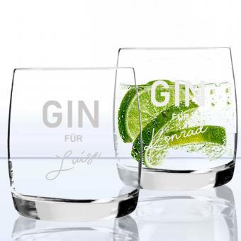 2 GIN Gläser mit Namen graviert