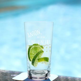 GIN Tonic Glas mit persönlicher Gravur GINfluencer
