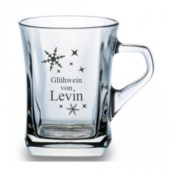 Glühweinbecher /Glühweintasse Glas mit Gravur
