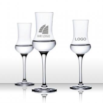 Grappaglas mit Logo