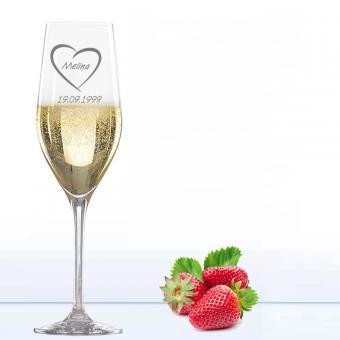 persönliches Sektglas classic - HeartBeat