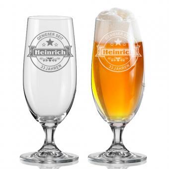 individuelles Bierglas 380 ml HEINRICH I.