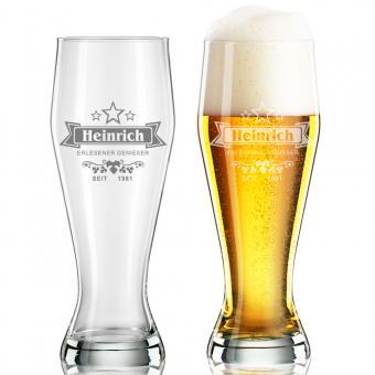 persönliches Weißbierglas mit Gravur 550 ml HEINRICH II