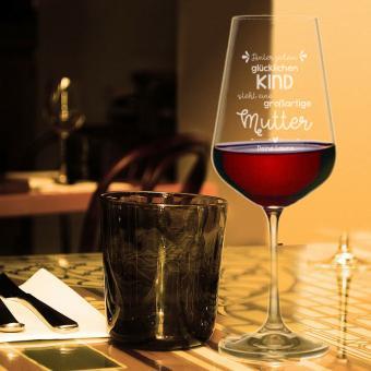 Weinglas für Mama mit Gravur