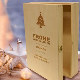 Geschenkverpackung zu Weihnachten Holz 3er
