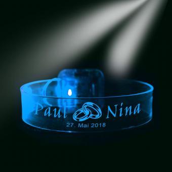 LED-Armband mit Namen und Datum zur Hochzeit