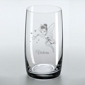 Saftglas mit schönem Feenmotiv und graviertem Namen