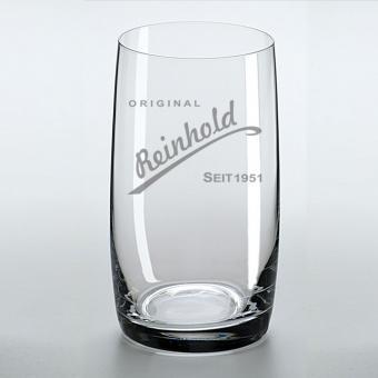 Longdrinkglas mit Namens-Gravur Reinhold