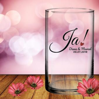 Hochzeitsgeschenk Vase von Leonardo mit Gravur *Ja*