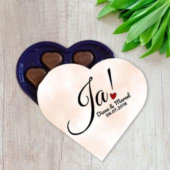 Personalisierte I love Milka Schokolade für Verliebte