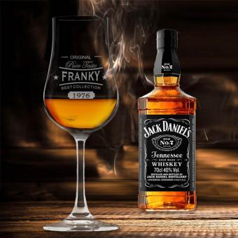 Graviertes Whiskyglas mit Stiel als Jack Daniel´s Set