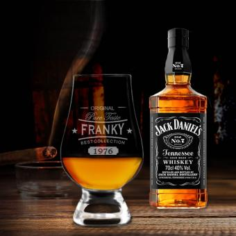 Personalisiertes Jack Daniel´s Geschenkset mit edlem Whiskyglas