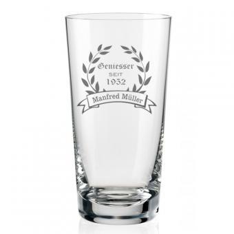 Longdrinkglas mit Gravur Geniesser