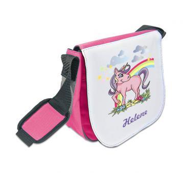 Einhorn-Kindergartentasche mit Namen