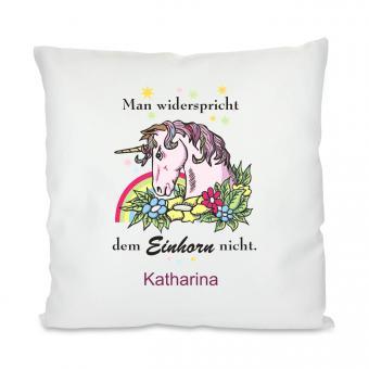 Unicorn Kissen mit Deinem Namen