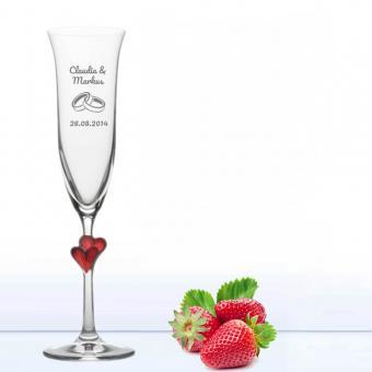 Sektglas graviert zur Hochzeit