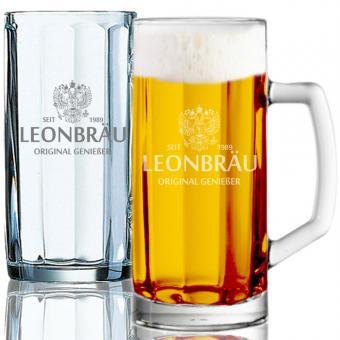 Bierkrug gravieren 0,5l LEON