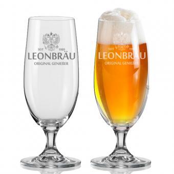 Bierglas mit Gravur 380 ml LEON