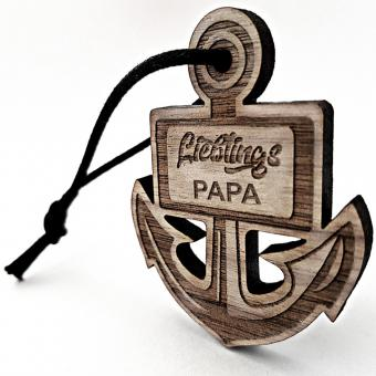 Lieblingsmensch -  gravierter Schlüsselanhänger aus Holz für Papa