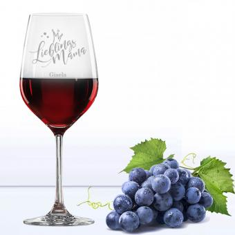 Rotweinglas Lieblingsmama mit Namen