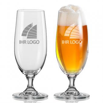 Bierglas / Pilsglas mit Logo gravieren