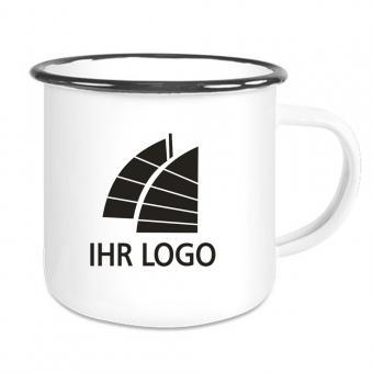 Emaille Tasse / Becher mit Logo bedrucken