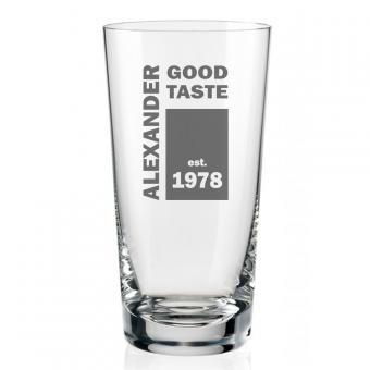 Individuell graviertes Wodka Glas