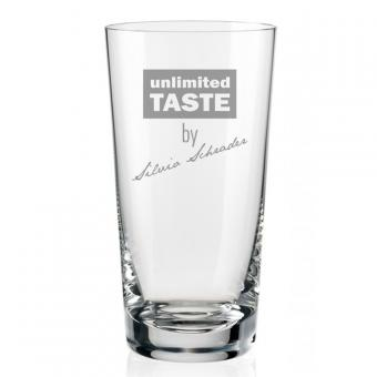 Longdrinkglas mit Wunschnamen gravieren