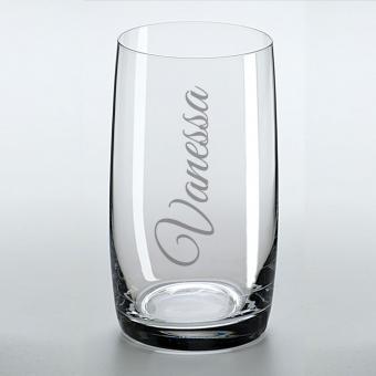 Trinkglas mit Namens-Gravur