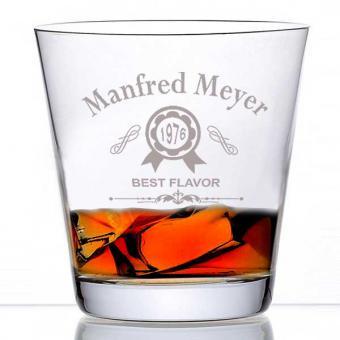Whiskyglas mit Personalisierung Manni