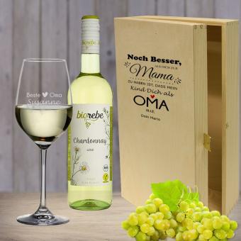 *Noch besser als* Weißwein Geschenkset für die liebste Oma