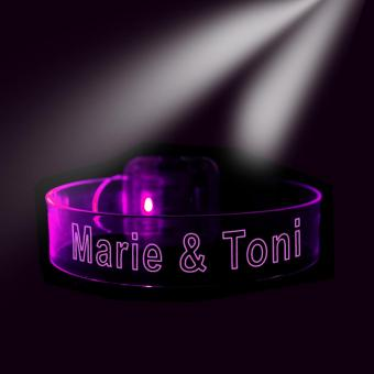 Partnerarmband LED mit Gravur für Paare