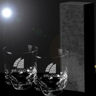 Whiskygläser mit Gravur in Geschenkverpackung PREMIUM Select