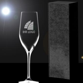 Sektglas mit Gravur in Geschenkverpackung PREMIUM Select