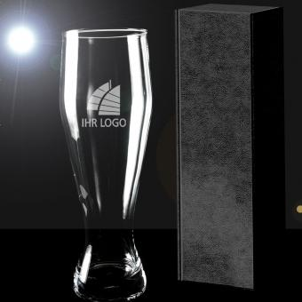 Weizenbierglas mit Gravur in Geschenkverpackung PREMIUM Select
