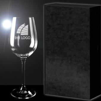 Rotweinglas mit Logo als Geschenk-Set PREMIUM Select