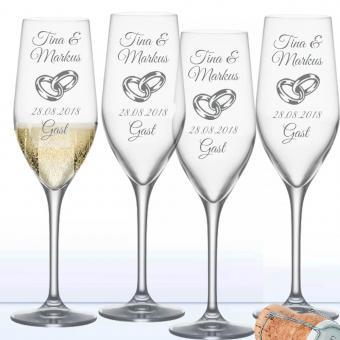 Sektgläser zur Hochzeit als Spar Set