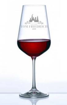 Gläser mit Gravur - graviertes Weinglas Namen