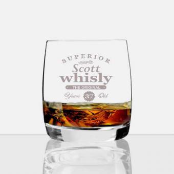 Whiskey Glas mit Name