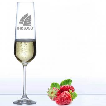 Sektglas mit Logo gravieren