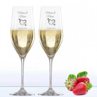 Gläser mit Gravur - Sektgläser mit Herz