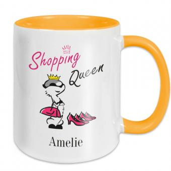 Shopping Queen Tasse mit eigenem Namen