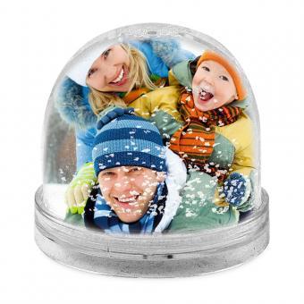 Schneekugel, Foto-Kugel mit Foto