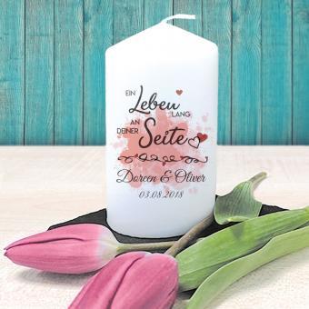 Personalisierte Kerze für Verliebte