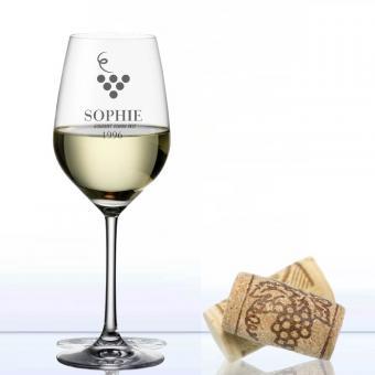 Weinglas mit Gravur Weißwein MyWine