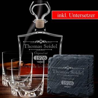 persönliche Whisky Karaffe mit Gläsern im Set 5-tlg
