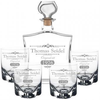 Whisky Set graviert mit Karaffe und Gläsern 5-teilig
