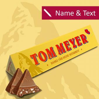Toblerone Schokolade mit Namen für Kunden, Mitarbeiter oder Gäste - 360 g Spar Set
