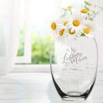 Blumen Vase mit Namen für Deinen Lieblingsmensch